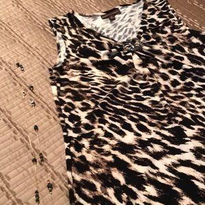 Dana Buchman dress, animal print, size L